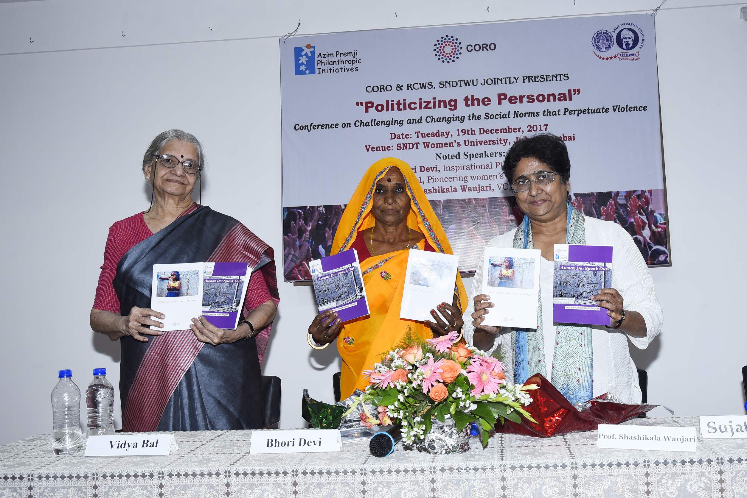 """Politicizing the Personal"""" - CORO's Conference on Tackling Violence"""